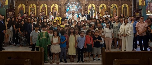Fr. Maximos Saikali (Orthodox) & Fr. Pierre Azzi (Maronite) bless our new Church.