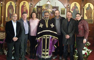2015 Parish Council: left to right, Saad Massan, Ramzi Tawil, Affaf Jackl (President), Fr. Maximos Saikali, Tony Nahas, Fouad Mina, Jacqueline Nasrallah.
