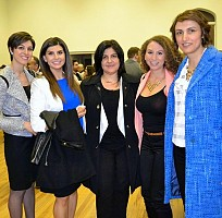 2015 marks a special year at Saint Antonios owing to the election of the first female president of the Parish Council (A. el-Jackl, right).  From left to right, Mayssoune Lawen, Nancy Tawil, Catherine Tawil, Anna Nasrallah, Affaf El-Jakl.