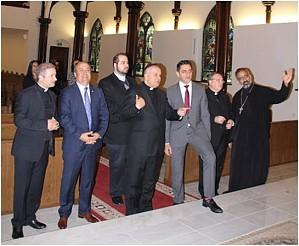 A recent joyous visit by Maronite dignitaries to the new Saint Antonios Church.