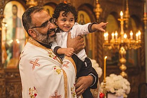 Mony Haddad, the child of Chantal & Michael Haddad (Saint Antonios / Our Lady of Lebanon).