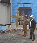 Hoisting the Crosses.