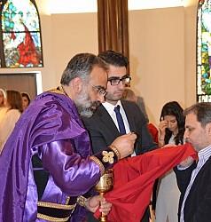 Fr. Maximos Saikali & Milad Saikali.