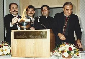 Bassam Nahas, Abraham Salloum, Fr. Elia Shalhoub, Metropolitan Philip Saliba.
