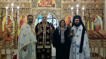 Fr. Saikali, Bishop Alexander, Salam Nasrallah, Fr. Yaacoub.