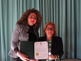 Jacqueline Nasrallah & Minister Diab