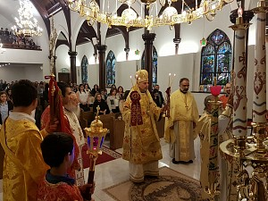 Holy services presided over at Saint Antonios by his grace Bishop Alexander, Fr. Iakovos of the Holy Monastery of Simonopetra on Mt. Athos, Fr. George Esber, and Fr. Maximos Saikali.