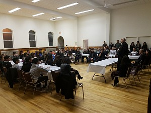 Bishop Alexander meets with Saint Antonios Youth.