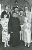 Front row, Janice Saoud, Fr. Elia Shalhoub, Ghassan Anbara, Latify Boudreau. Back row, Bassam Nahas, Rafat Nasrallah, Ramez Haddad.